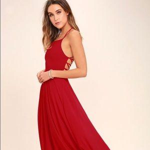 Lulus Red maxi dress!